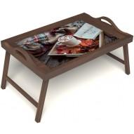 Столик для завтрака в постель «Идеальное утро» с ручками цвет орех