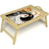 Столик для завтрака в постель «Капучино» с ручками цвет светлый