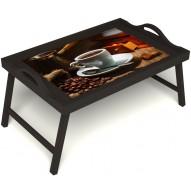 Столик для завтрака в постель «Кофе по-турецки» с ручками цвет венге