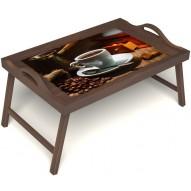 Столик для завтрака в постель «Кофе по-турецки» с ручками цвет орех
