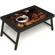 Столик для завтрака в постель «Кофе с корицей» без ручек цвет венге