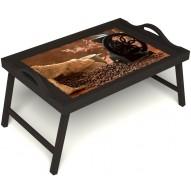 Столик для завтрака в постель «Кофейный помол» с ручками цвет венге