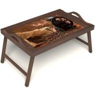 Столик для завтрака в постель «Кофейный помол» с ручками цвет орех