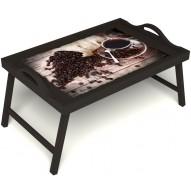Столик для завтрака в постель «Утренний кофе» с ручками цвет венге