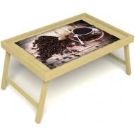 Столик для завтрака в постель «Утренний кофе» без ручек цвет светлый