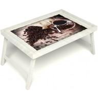 Столик для завтрака в постель «Утренний кофе» без ручек цвет белый