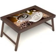 Столик для завтрака в постель «Русская берёза», «За секунду до» без ручек цвет орех