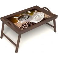 Столик для завтрака в постель «За секунду до» с ручками цвет орех