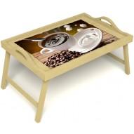 Столик для завтрака в постель «За секунду до» с ручками цвет светлый