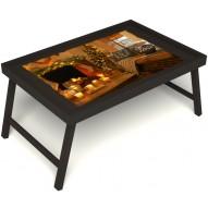 Столик для завтрака в постель «Канун Рождества» без ручек цвет венге