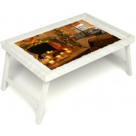 Столик для завтрака в постель «Канун Рождества» без ручек цвет белый