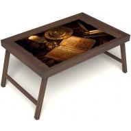 Столик для завтрака в постель «Магическое заклинание» без ручек цвет орех