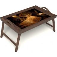 Столик для завтрака в постель «Магическое заклинание» с ручками цвет орех