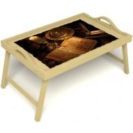 Столик для завтрака в постель «Магическое заклинание» с ручками цвет светлый