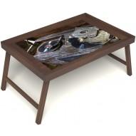 Столик для завтрака в постель «Ностальгия» без ручек цвет орех