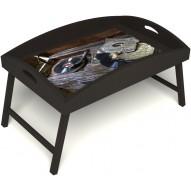 Столик для завтрака в постель «Ностальгия» с высоким бортиком цвет венге
