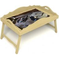 Столик для завтрака в постель «Ностальгия» с фигурным бортиком цвет светлый