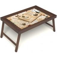 Столик для завтрака в постель «Свадебный альбом» без ручек цвет орех