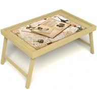 Столик для завтрака в постель «Свадебный альбом» без ручек цвет светлый