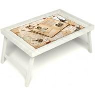 Столик для завтрака в постель «Свадебный альбом» без ручек цвет белый