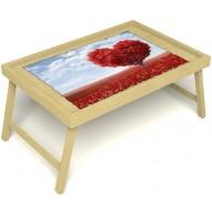 Столик для завтрака в постель «Русская берёза», «Дерево любви» без ручек цвет светлый