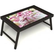 Столик для завтрака в постель «Love» без ручек цвет венге
