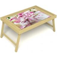 Столик для завтрака в постель «Love» без ручек цвет светлый