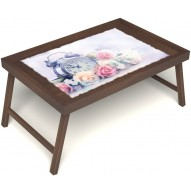 Столик для завтрака в постель «Прекрасное утро» без ручек цвет орех