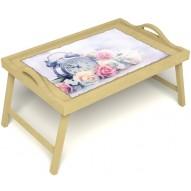Столик для завтрака в постель «Прекрасное утро» с ручками цвет светлый