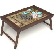 Столик для завтрака в постель «Запах лаванды» без ручек цвет орех