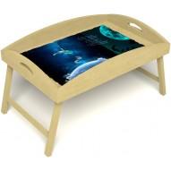 Столик для завтрака в постель «Русская берёза», «Маленький принц» с высоким бортиком цвет светлый