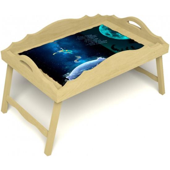 Столик для завтрака в постель «Русская берёза», «Маленький принц» с фигурным бортиком цвет светлый