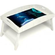 Столик для завтрака в постель «Русская берёза», «Маленький принц» с высоким бортиком цвет белый