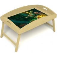 Столик для завтрака в постель «Русская берёза», «Минуты волшебства» с высоким бортиком цвет светлый