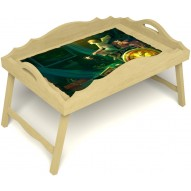 Столик для завтрака в постель «Русская берёза», «Минуты волшебства» с фигурным бортиком цвет светлый