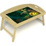 Столик для завтрака в постель «Русская берёза», «Минуты волшебства» с 3-мя высокими бортиками цвет светлый