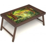 Столик для завтрака в постель «В ожидании принца» без ручек цвет орех