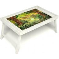 Столик для завтрака в постель «Русская берёза», «В ожидании принца» без ручек цвет белый