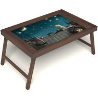 Столик для завтрака в постель «Волшебная ночь» без ручек цвет орех