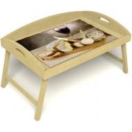 Столик для завтрака в постель «Русская берёза», «Апперетив» с 3-мя высокими бортиками цвет светлый