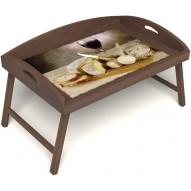 Столик для завтрака в постель «Русская берёза», «Апперетив» с 3-мя высокими бортиками цвет орех