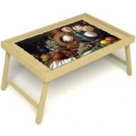 Столик для завтрака в постель «Изобилие» без ручек цвет светлый