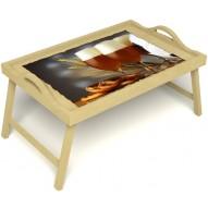 Столик для завтрака в постель «Русская берёза», «Оле-оле» с ручками цвет светлый