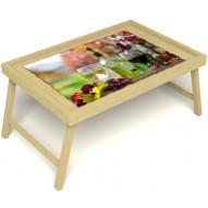 Столик для завтрака в постель «Русская берёза», «Осенний пикник» без ручек цвет светлый