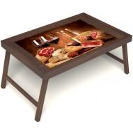 Столик для завтрака в постель «Русская берёза», «Тоскана» без ручек цвет орех