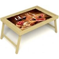 Столик для завтрака в постель «Русская берёза», «Тоскана» без ручек цвет светлый