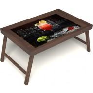 Столик для завтрака в постель «Цитрусовый микс» без ручек цвет орех