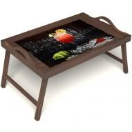 Столик для завтрака в постель «Цитрусовый микс» с ручками цвет орех