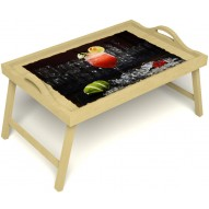 Столик для завтрака в постель «Цитрусовый микс» с ручками цвет светлый
