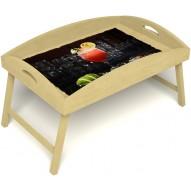 Столик для завтрака в постель «Русская берёза», «Цитрусовый микс» с высоким бортиком цвет светлый